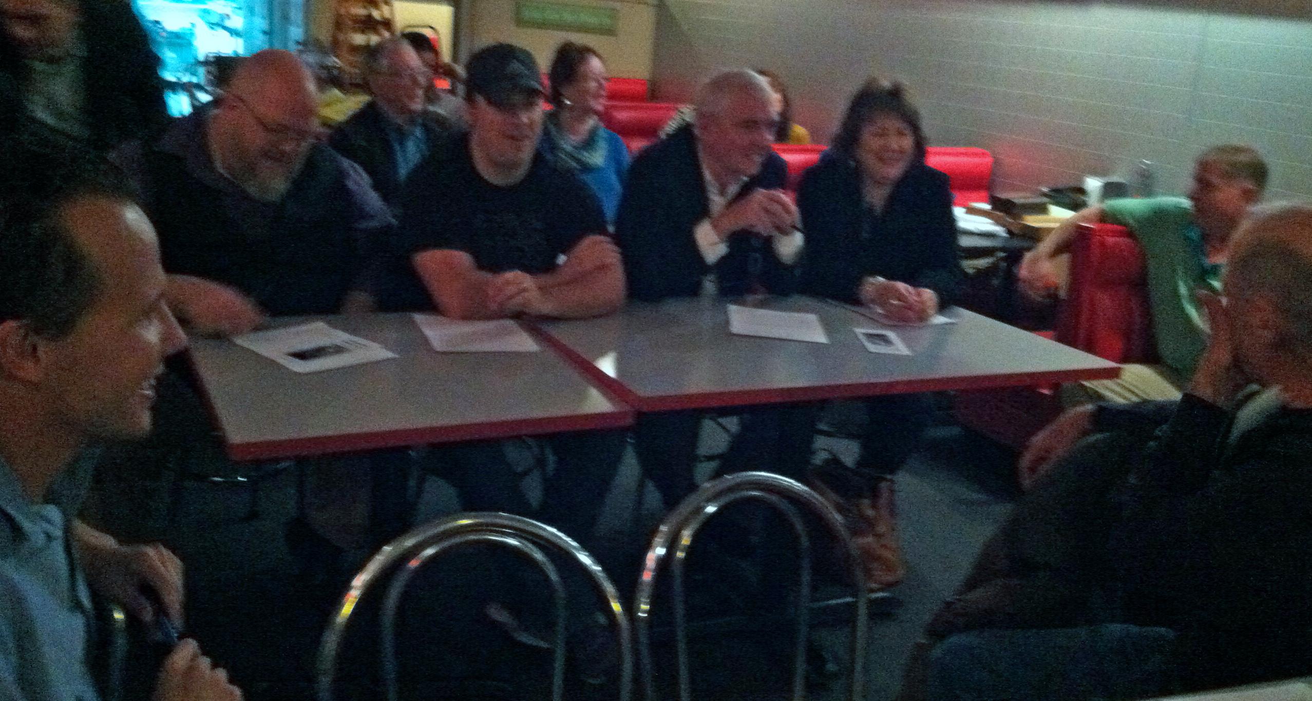 Gary Chesney attending entrepreneurial pitch night.